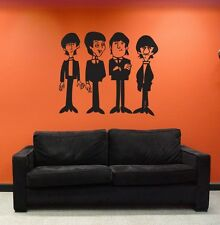 Beatles Cartoon Large Wall Decal - Sticker - Vinyl Graphic Living Room Bedroom