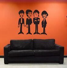 Beatles Cartoon Large Wall Decal - Sticker - Vinyl Graphic Living Room Bedroom
