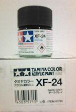 Tamiya acrylic paint XF-24 Dark Grey 10ml Mini.