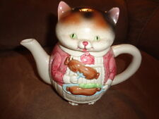 CAT hot-dog Porcelain Tea Pot Teapot Vintage 1984 Ron Gordon Kitchen Helpers