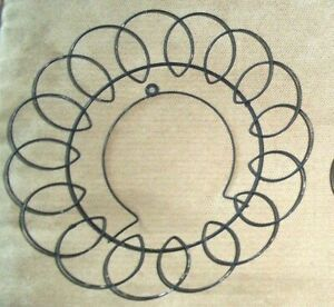 """VNTG Plate Black Metal Wire Wrought Iron Look Round Wall Hanger for  6"""" plate"""