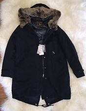 JCREW Woolrich John Rich & Bros Literary Parka Hooded M Dark Navy $795 NEW