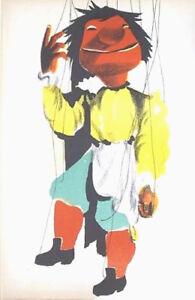 PIERRE GAUCHAT- VESPONE.-MARIONNETTES-ORIG.LITHOGRAPH-MOURLOT 1949-VELIN