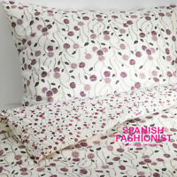 IKEA MAJVIVA Quilt cover and 1 pillowcase, white/lilac 150x200 / 50x60 cms