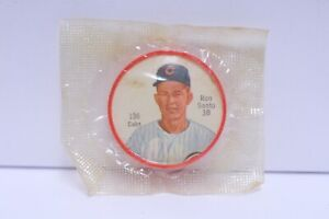1962 SALADA TEA BASEBALL COIN #136 RON SANTO CHICAGO CUBS SEALED IN PACK