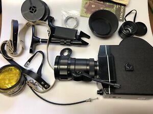 Krasnogorsk K-3 16mm Motion Picture Camera Film Tested With Extra Lens