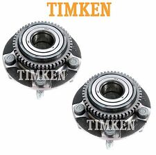 Pair Set of 2 Front Wheel Bearing & Hub Assy Timken For Ford Mustang RWD 94-04