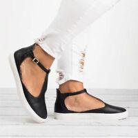 Womens Sneaker Loafer Flats Oxfords Ballet Boat Shoes Footwear Ankle Strap Size