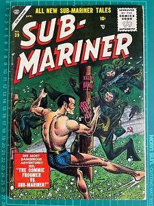 Sub-Mariner Comics #39 Atlas Comics! Sub-Mariner Namora! Bill Everett story!