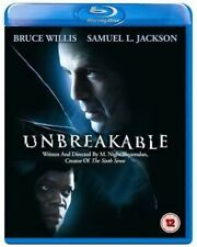 Unbreakable (2000) Bruce Willis Samuel L. Jackson Blu-Ray Brand New Free Ship