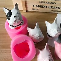 3D Dog Fondant Silicone Mold Cake Decor Chocolate Ice Sugar Moulds Baking Tool
