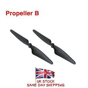 2 x Black Hubsan X4 Brushless FPV H501S Propellers B Blades H501S-06B UK Seller