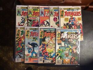 Marvel Super Action Avengers #14 -35 9 Book Lot Mid To a low grade readers