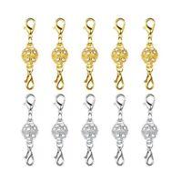 5pcs Rhinestone Magnetic Clasp Hook for DIY Bracelet Necklace Jewelry Making