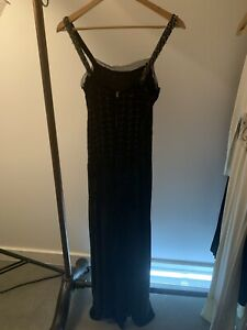 VINTAGE Evening gown 1940s Velvet And Beads