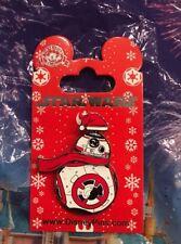 18e178df307ea Disney Star Wars Holiday 2018 BB-8 Wearing Santa Hat Spinner Pin OE New