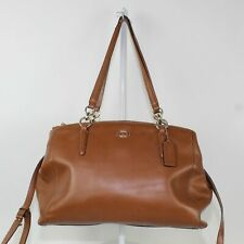 Coach Christie Carryall F36606 In Crossgrain Leather Shoulder Bag