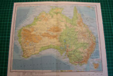 Australia Victoria Queensland Old map 1975