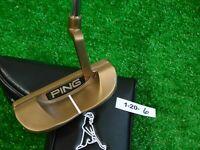 """Ping Karsten TR B60 35.5"""" Left Hand Slight Arc Putter w Headcover Black Dot New"""