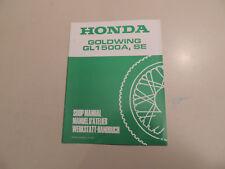 Werkstatthandbuch Nachtrag HONDA GL 1500 A SE GoldWing `98 shop manual 67MN500Q