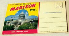 Vintage fold-out photo portfolio featuring Madison, Wisconsin full color