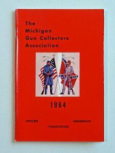 Vintage The Michigan Gun Collectors Association 1964 Booklet Civil War Motif