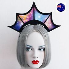 Women Girl Gothic Galaxy star Halloween Vampire Queen Party Hair Headband Prop