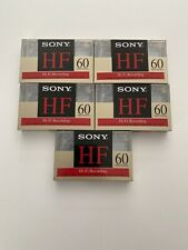 5 - SONY HF 60 MINUTE NORMAL TYPE 1 BIAS BLANK AUDIO CASSETTE TAPE New / Sealed