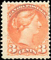 1888 Mint H Canada F Scott #41 3c Small Queen Issue Stamp
