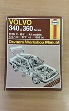 VOLVO 340 & 360 1976-1991 HAYNES WORKSHOP MANUAL 715 WELL USED COPY FREE P&P