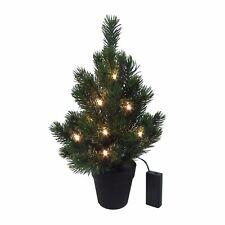Künstlicher TANNENBAUM im TOPF Weihnachtsbaum  37 cm LED LICHTERKETTE 3016712-00