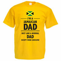 I'M A JAMAICAN DAD - Daddy / Father's Day / Jamaica / Fun Themed Mens T-Shirt