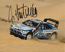 Ari Vatanen Firmada A Mano Peugeot 10x8 Foto Rally Campeón del Mundo 11.