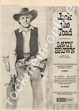Savoy Brown Jack The Toad TXS 112 MM3 LP advert 1973