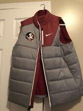 NWT Florida State Seminoles FSU Nike Sideline Team Issued Jacket Vest Large NCAA