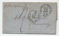 1860 Charleston SC 24 integral rate stampless transatlantic Scotland [5246.181]