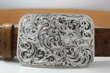 Handmade Sterling Silver (.925) Cowboy Trophy Belt Buckle (Made in Texas) #EB03