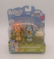 Bluey Doctor Check Up Play Figures Set with Indy and Hat New Preschool Toddler