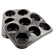 Bollo de Silicona 2x/Muffin Bandeja Pan Estaño Bandeja Para Hornear Antiadherente pudding mold 6 Taza