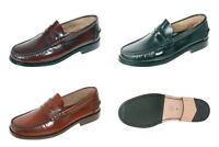Men's Loafers Shoes Leather Black Oxblood Brown UK Size 6 7 8 9 10 11 12 13 14