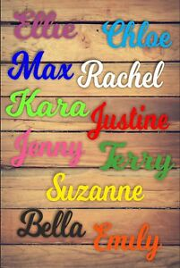 Personalised Wooden Name Plaques Words Letters Wall Door Sign we do DISNEY 3mm