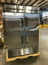 "|1166| True T-49-4-Hc 54 1/10"" 2 Section Reach In Refrigerator, 4 L/R Hinge 115v"