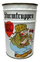 sturmtruppen Bonvi raro bidone puff contenitore in latta vintage anni 70