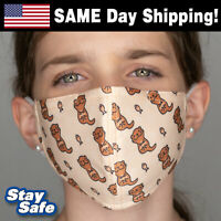 CHILD size OTTERS Face Mask –INCLUDES 2 FILTERS –30+ Custom Kids Designs