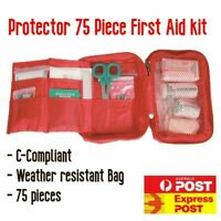 Protector 75 Piece C-Compliant First Aid Kit safety car camping hiking emergency