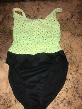 Miraclesuit Dippin Dots Green And Black Sz 8