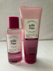 NEW AUTHENTIC VICTORIA SECRET/ PINK WILD ROSE LOTION AND BODY MIST