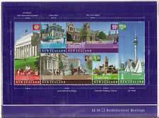 NEW ZEALAND 2002 ARCHITECTURAL HERITAGE SET OF 7 PANES FINE USED