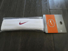 Nike mens womens headband new white red sweatband band
