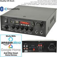 110W Mini Bluetooth Amplifier System–Wireless Home/Office Loud Speaker Hi-Fi Amp